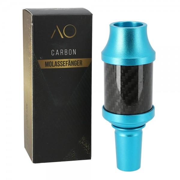 AO - Carbon Molassefänger 18/8 - Alu Hellblau