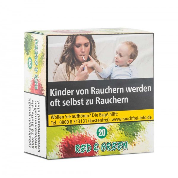 Aqua Mentha Premium Tobacco - Red & Green (20) - 200g