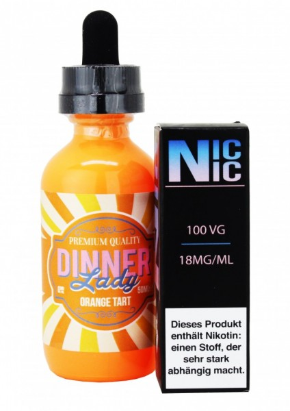Dinner Lady - Orange Tart - 60ml inkl. Nic-Shot