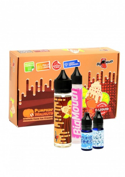 Big Mouth Liquid - Pumpkin' Walnuts : Donuts Cone Ice Cream - 50ml/0mg