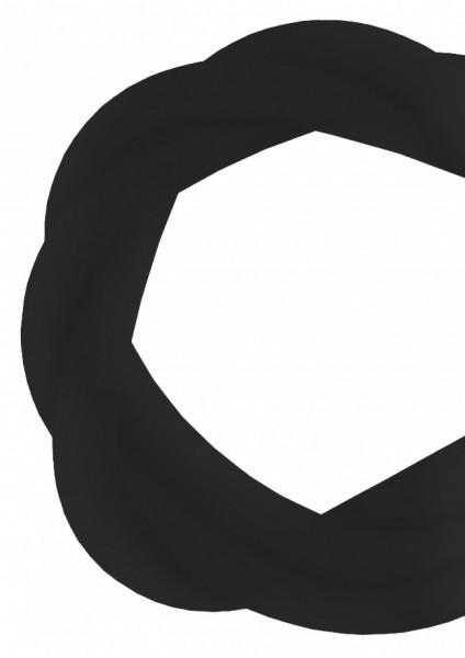 Silikonschlauch - Transparent Black - MATT