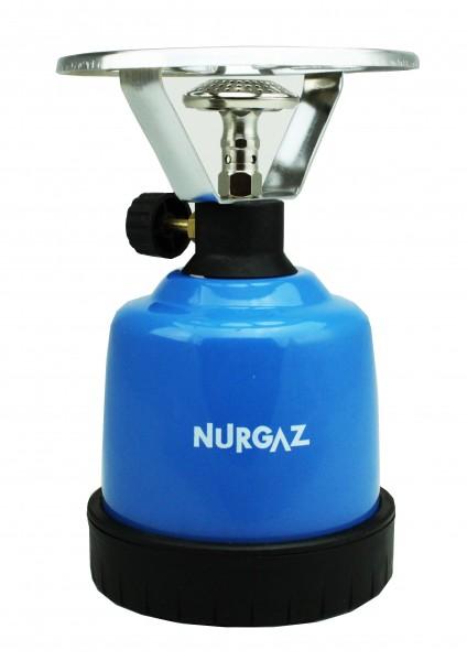 NurGaz - Stand-Gaskocher aus Metall - Kohleanzünder